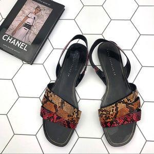 Zara Multi Color Snakesin Strappy Sandals.